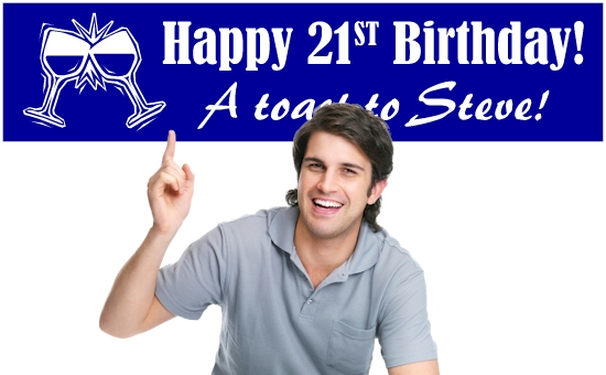 21st Birthday Banners