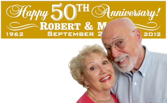50th Wedding Anniversary Banners