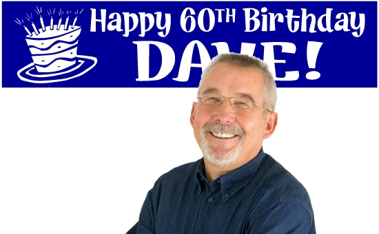 60th Birthday Banners Custom Banner For Birthday Party