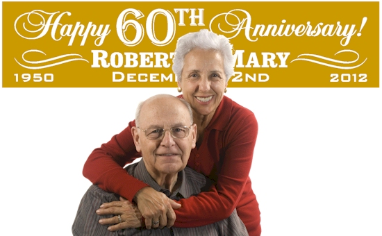 60th Wedding Anniversary Banners