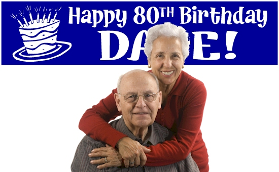 80th Birthday Banners
