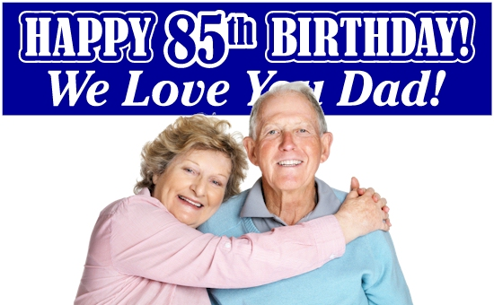 85th Birthday Banners