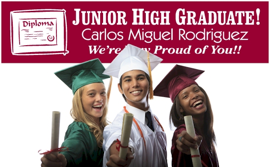 Junior High School Graduation Banners