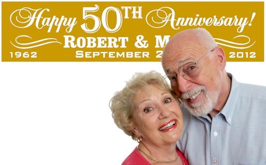 milestone wedding anniversary banners 25th 50th 60th